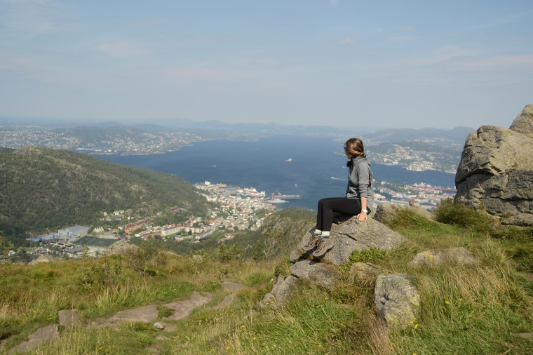 The top of Mount Løvstakken in Bergen, Norway