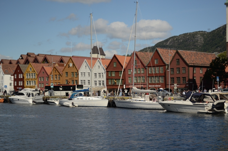 The hanseatic wharf Bryggen in Bergen, Norway